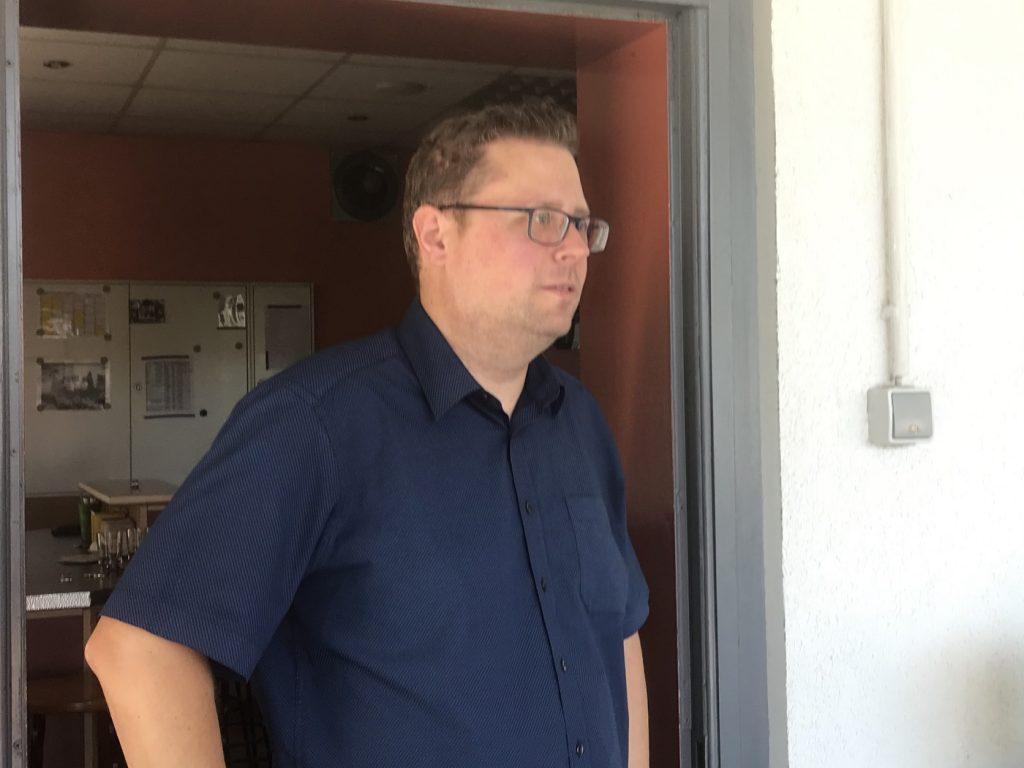 "Stephan Mischnik, Vorsitzender des KGV ""Im Fuchspfad"" e.V.; Foto: Peter Ansmann"