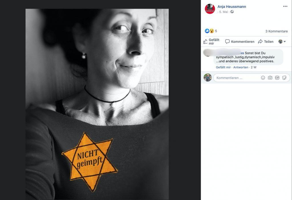 """Ein typischer Beitrag in der - jetzt gelöschten - Gruppe """"Corona-Rebellen""""; Screenshot"""