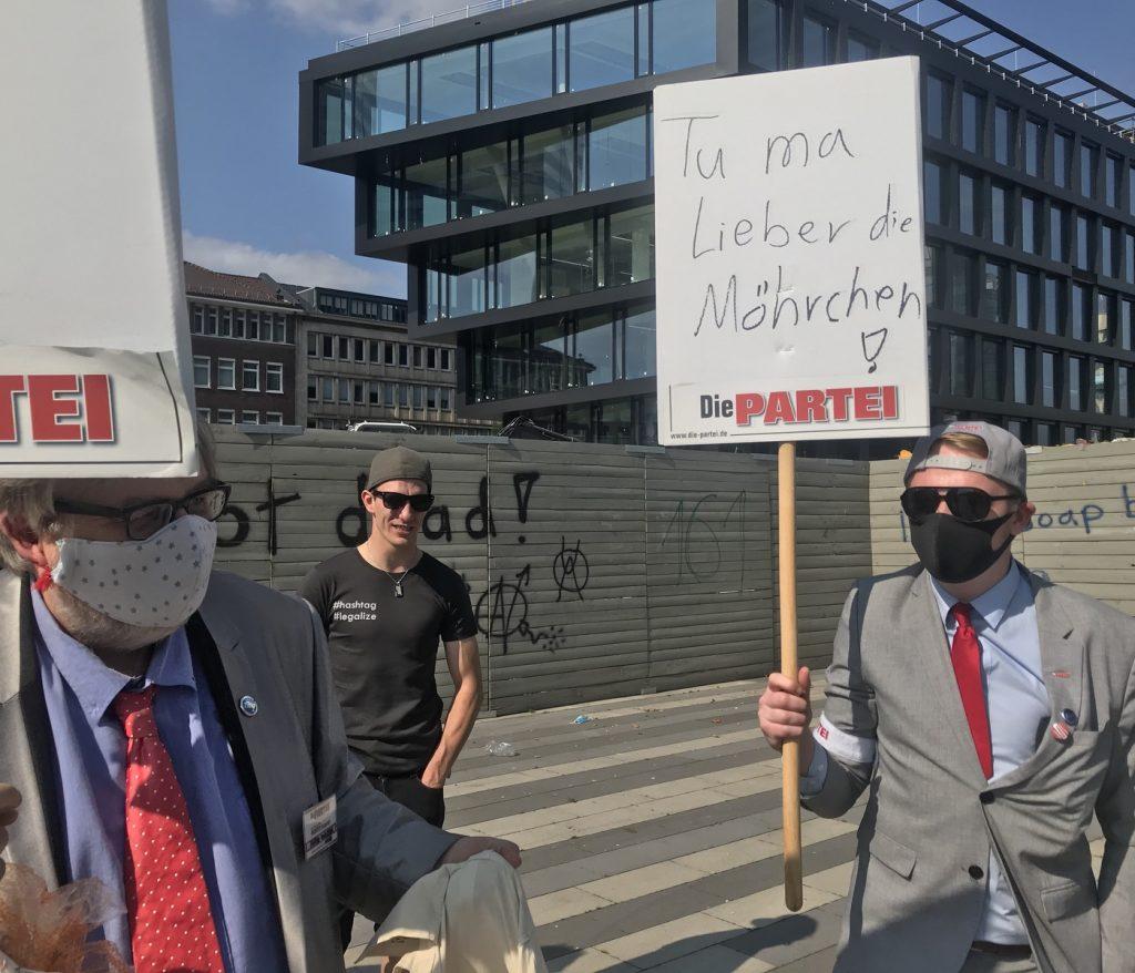 Kämpfen um jede Stimme: Matthias-Maria Eidens (Links) und Chris Fath; Foto: Peter Ansmann