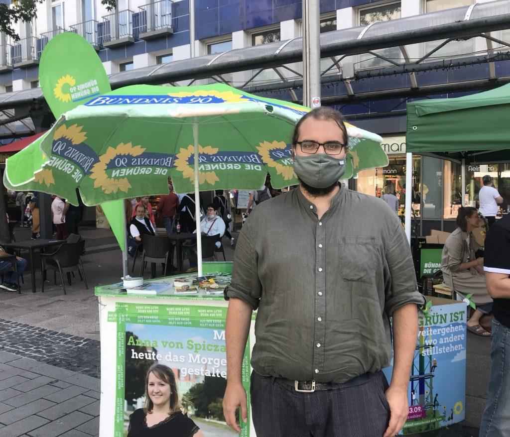 Felix Lütke, Sprecher von Bündnis90 / Die Grünen in Duisburg; Foto: Peter Ansmann