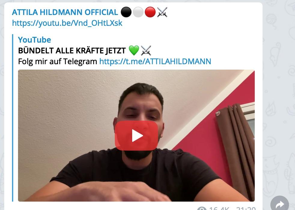 """Bündelt alle Kräfte jetzt""; Screenshot YouTube"