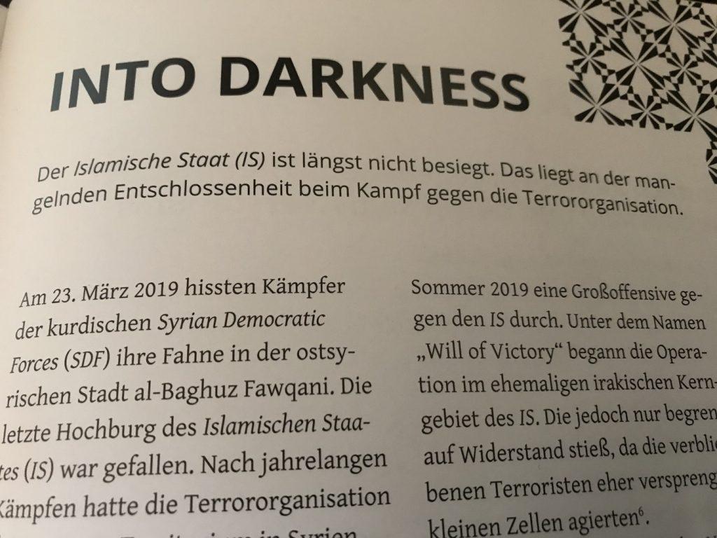 """Auch Thema bei tapis: Der """"Islamische Staat"""" (IS); Foto: Peter Ansmann"""