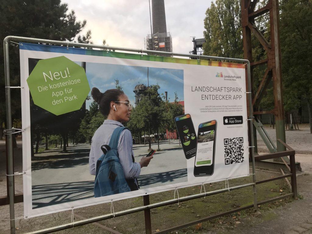 Neu: Die Landschaftspark-Endecker-App; Foto: Peter Ansmann