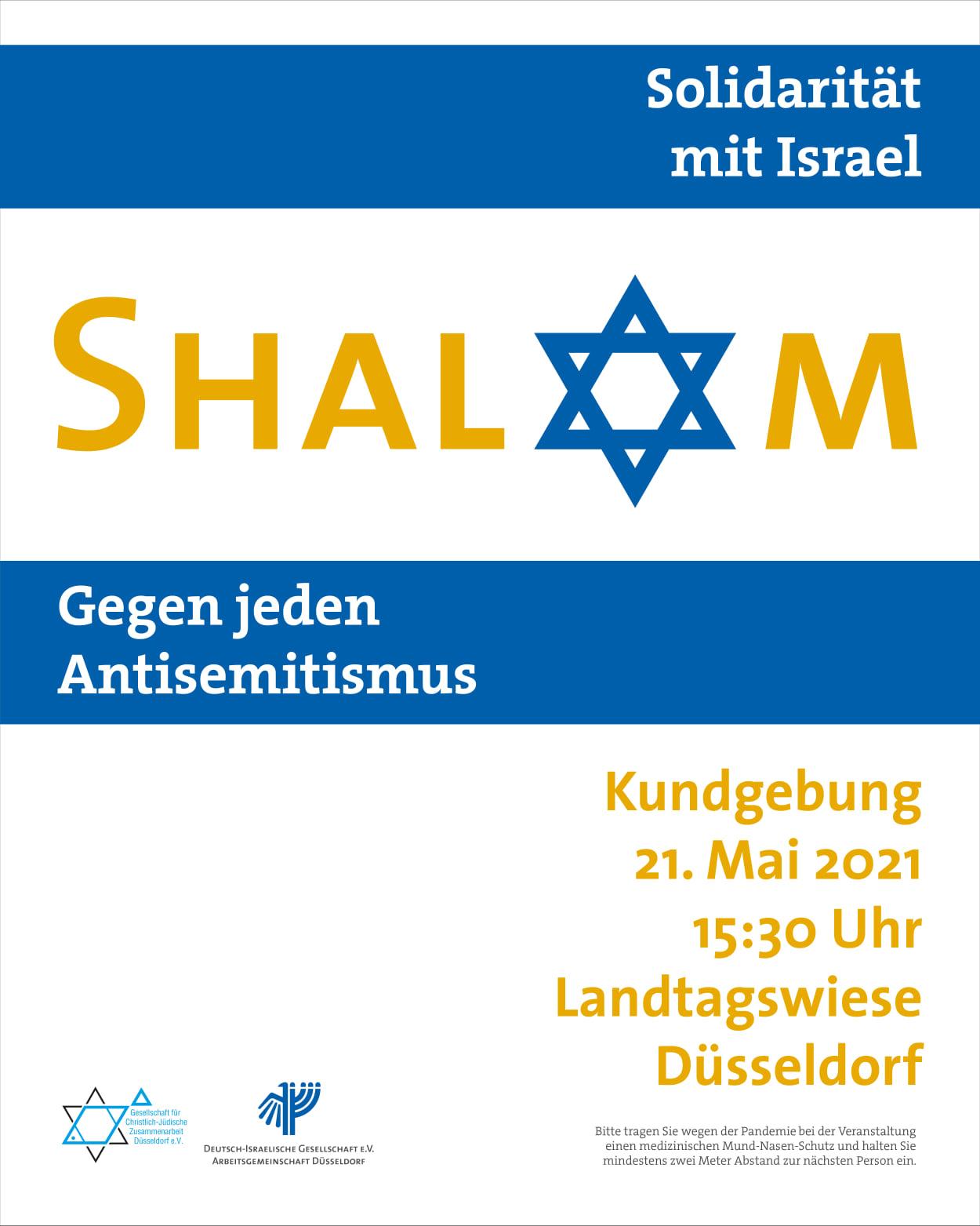 Solidarität mit Israel: Demonstration in Düsseldorf am 21. Mai 2021