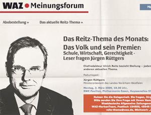 WAZ-Chefredakteur Ulrich Reitz wird <a target=